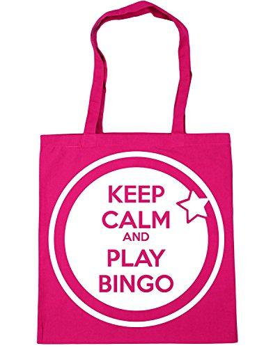 IrmaPetty Keep Calm and Play Bingo Tote Shopping Gym Beach Bag by IrmaPetty