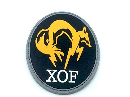 Patch PVC Motif XOF Noir Foxhound Metal Gear Solid pour Paintball