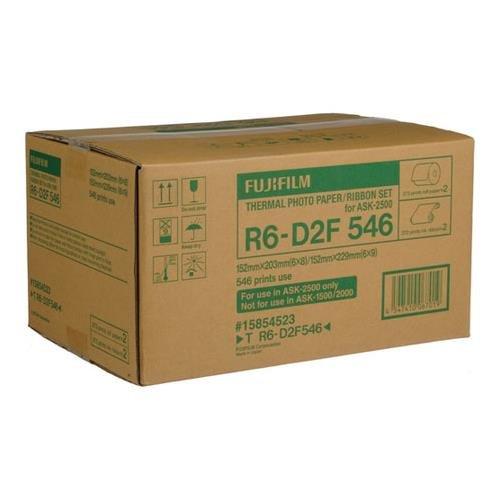 Fujifilm 6x8'' / 6x9'' Media for ASK2500 Dye Sub Printer, 2 Rolls of 273 Sheets by Fujifilm