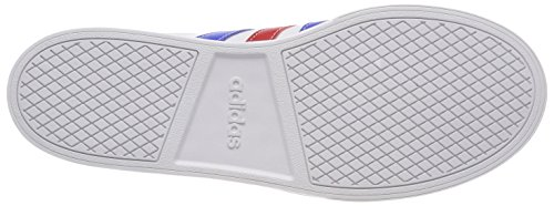 adidas Vs Set, Scarpe da Ginnastica Basse Uomo Bianco (Ftwwht/Blue/Scarle Ftwwht/Blue/Scarle)