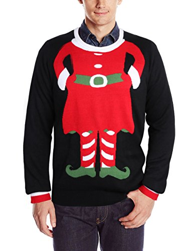 RAISEVERN Men's Ugly Christmas Sweater Long Sleeve Crewneck Knitted Oversized Pullover Sweater