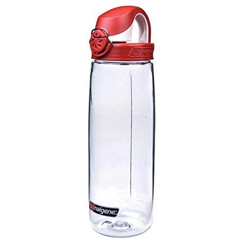 Nalgene Tritan On The Fly Water Bottle, OTF, Clear/Red by Nalgene