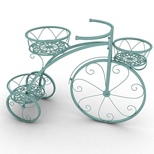 (Flower Stand Tricycle Plant Stand - Wrought Iron Decorative Bicycle Flower Stand Great Gift for Plant Lovers,)