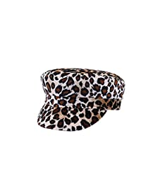 ACVIP Women's Plush Beast Pattern Fiddler Flat Newsboy Cap