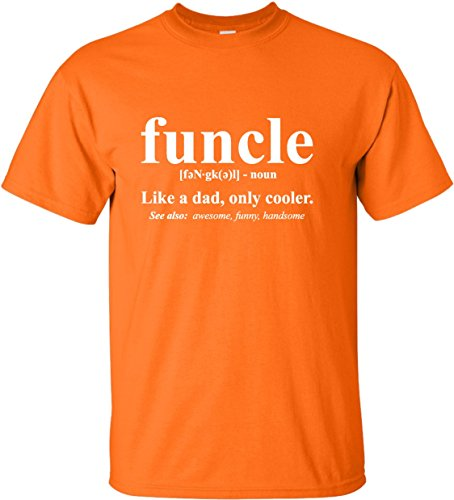 Go All Out XXX-Large Orange Adult Funcle Funny Uncle T-Shirt