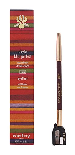 0.05 Ounce Khol Pencil (Sisley Phyto Khol Perfect Eyeliner with Blender and Sharpener for Women, # 6 Plum, 0.05 Ounce)