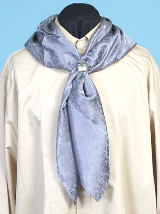 Victorian Mens Ties Silk Scarf Grey One Size $35.16 AT vintagedancer.com