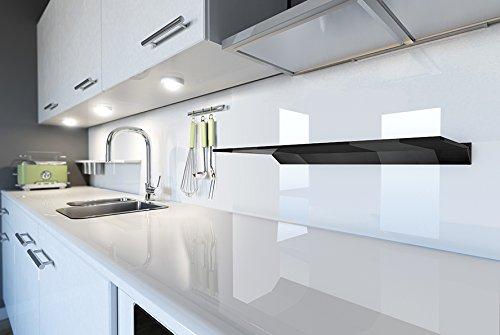 King vetro nero galleggiante mensola mensole da bagno cucina salotti