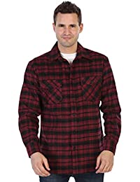 Men's Plaid Checkered Brushed Flannel Shirt