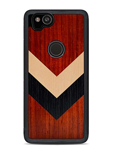 Pixel 2 Corporal Inlay Wood Traveler Protective Case by Carved, Unique Real Wooden Phone Cover (Rubber Bumper, Fits Google Pixel 2)