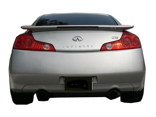 03-05 Infiniti G35 2dr Factory Style Spoiler W/ LED - Painted or Primed : WV2 Silverstone