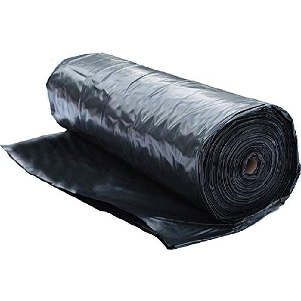Plastic Sheeting Roll 6 Mil 10x100 Black For Painting Tarp Mulch Weed Vapor Ebay