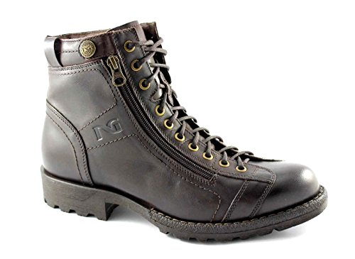 NERO GIARDINI 3790 musk caffè scarpe uomo stivaletti scarponcini tipo anfibio zip Marrone