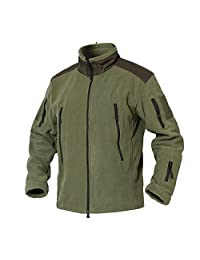 TACVASEN Men's Full Zip Stand Collar Tactical Fleece Jacket