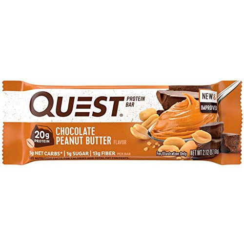 Quest Nutrition Protein Bar PB Cookie Mix-Up (Cookies + Cream and Chocolate Peanut Butter). Low Carb Meal Replacement Bar w/ 20g+ Protein. High Fiber, Soy-Free, Gluten-Free (24 Count) by Quest Nutrition (Image #5)