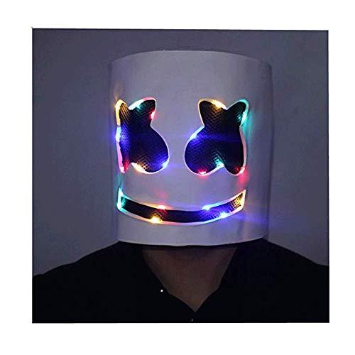 Xmecos LED DJ Character Helmet DJ Mask Lights