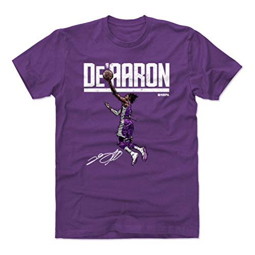 (500 LEVEL De'Aaron Fox Cotton Shirt XX-Large Purple - Sacramento Basketball Men's Apparel - De'Aaron Fox Hyper W WHT)