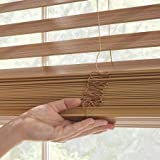 "Better Homes and Gardens 2"" Faux Wood Blinds, Easily Adjustable (Oak, 35X64)"