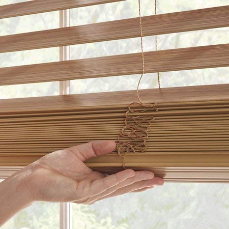"""Price comparison product image Better Homes and Gardens 2"""" Faux Wood Blinds,  Easily Adjustable (Oak,  35X64)"""