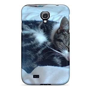 Galaxy S4 Case Cover Skin : Premium High Quality Cat At Work Case