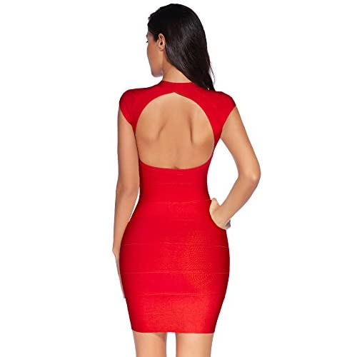 6ab3692749a Meilun Women s V-neck Bandage Party Clubwear Dress Bodycon Club Dress cheap