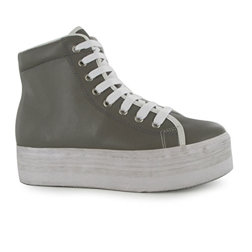 Jeffrey Campbell Damen Play Homg Leather Hi Tops High Aschgrau