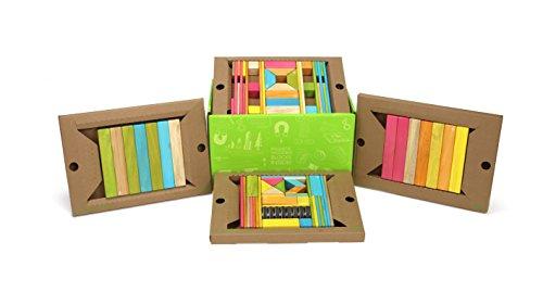 (90 Piece Tegu Classroom Magnetic Wooden Block Set, Tints )