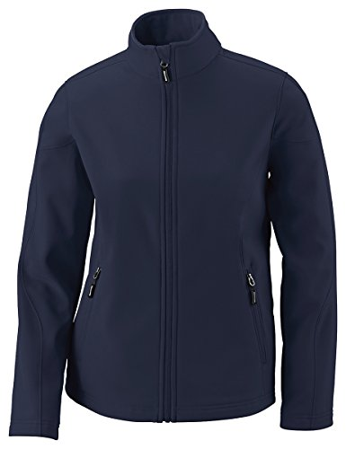 Coast Cruise Jacket (Core 365 Womens Cruise Two-Layer Fleece Bonded Soft Shell Jacket (78184)- Classic Navy 849,Large)
