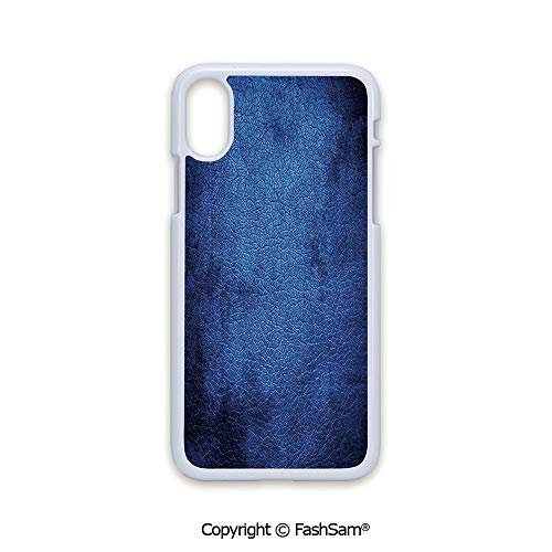 Fashion Printed Phone Case Compatible with iPhone X Black Edge Martian Alien Skin Like Dark Blue Contemporary Interesting Design Art Print 2D Print Hard Plastic Phone Case