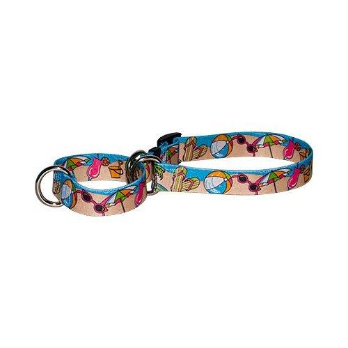 Beach Party Martingale Control Dog Collar - Size Medium 20