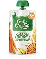 Only Organic Carrots Red Lentils & Cheddar 8+ Months - 120 g