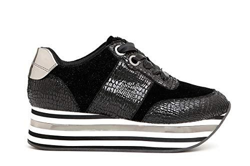 E Cafè Sneaker Dc905 35 Vipera Righe Macrosuola Donna Noir A Scarpe Stampa BqT0qwC