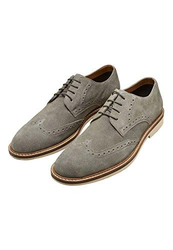 next Hombre Zapatos Derby de Ante Gris