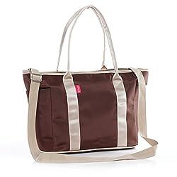 La moriposa New Fashion Big Capacity Tote Handbag Multi-function Mummy Bag (Coffee)