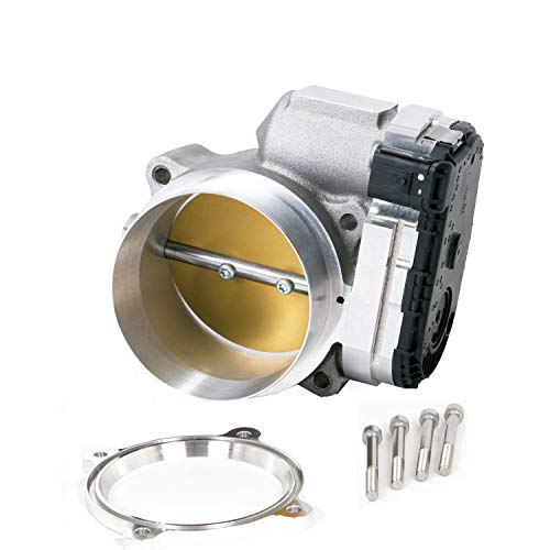 (BBK Performance Parts 1807 Power-Plus Series Throttle Body High Flow 90mm Incl. New OEM Factory Calibrated Electronics Required Hardware Supplied No Tune Required Power-Plus Series Throttle Body)