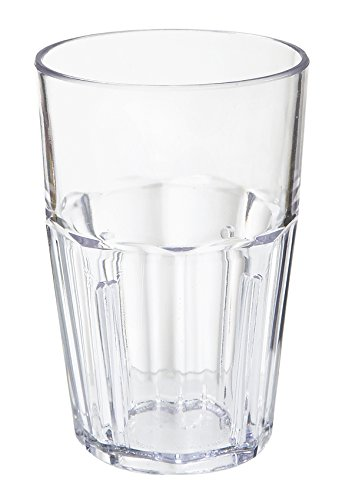 10 oz. Clear Tumbler, SAN Plastic Bahama Tumblers by GET 9910-1-CL-EC (Pack of 4)