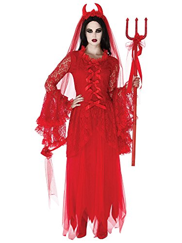 Rubie's Women's Elegant Devil's Pitchfork, Red, One Size -