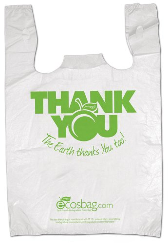 Pallets Plastic Recycled - Interplas MB-T-24TK-BIO Biodegradable Pre-Printed Thank You Retail Bags, 0.65 Mil, HDPE, 21-Inch Height, 11.5-Inch Width (Case of 1000)