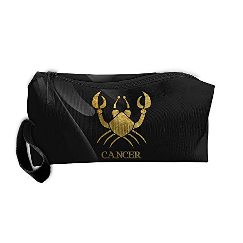 Cancer Zodiac Sign Portable Zipper Storage Bag Make-Up Pouch Beauty Cosmetic Bag Sewing Kit Medicine Bag by JYDPROV