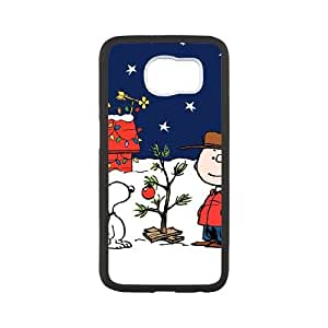 Samsung Galaxy S6 Cell Phone Case White Charlie Brown and Snoopy FXS_679894