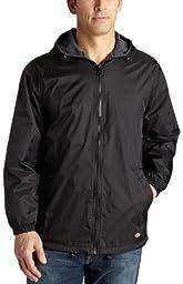 Dickies Men\'s Fleece Lined Hooded Jacket, Black, X-Large