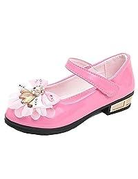 DADAWEN Girls Students Bright Princess Dance Party Shoes (Little Kid/Big Kid)