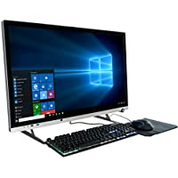 CUK Bionic G32 31.5 Quad HD 144Hz 4ms All-In-One Gaming Desktop PC (AMD Ryzen 7 2700, 16GB RAM, 250GB SSD + 1TB HDD, Radeon RX 580 4GB, 500W PSU, Windows 10) VR Ready Gamers AIO Computer