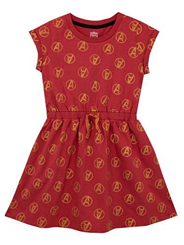Marvel Girls' Avengers Dress Size 8 Red -