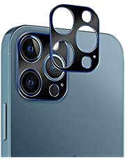 Casetego Compatible with iPhone 12 Pro Max Camera Lens Protector,[2 Pack] Aluminum Alloy Lens Protective Ring Circle Metal Camera Lens Protector for iPhone 12 Pro Max 6.7 inch,Blue