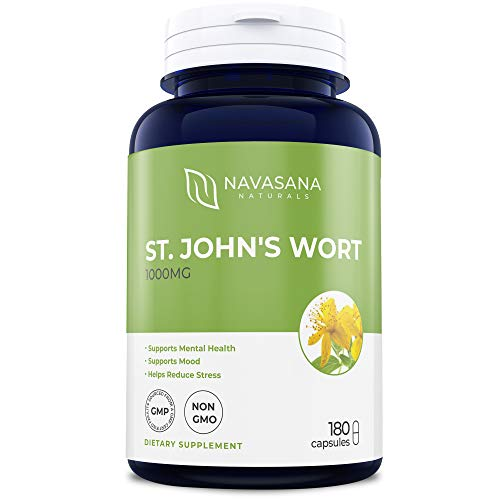 - Best St. John's Wort 1000mg - 180 Capsules Powerful 900mcg Hypericin Saint Johns Wort Extract for Mood, Mental Health, Tincture and Mental Health Support (500mg per Capsule)