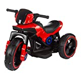 Lil' Rider Ride-On Toy Trike Motorcycle - Battery Operated Electric Tricycle for Toddlers with Built-in Sound, Lights & MP3 Input (Red)