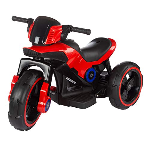 Deluxe Battery Powered 3 Wheeled Racing Style Motorcycle with Sounds, Lights, and MP3 Input - Great for Toddlers! ()