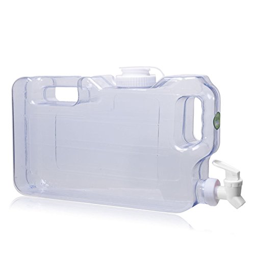 1 Gallon Refrigerator Bottle Water Dispenser w/ Faucet BPA FREE - Natural Blue