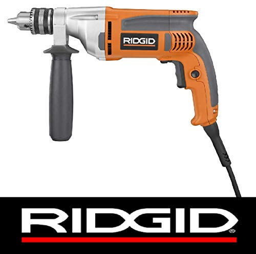 (Ridgid 8-Amp Corded 1/2 in. Heavy-Duty Variable Speed Reversible Drill - (Bulk Packaged))